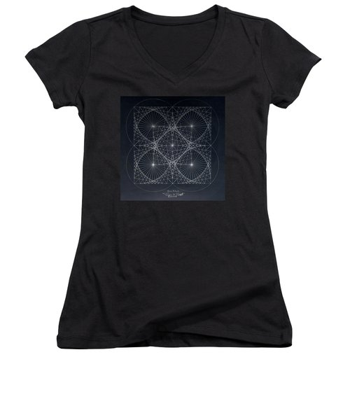 Plancks Blackhole Women's V-Neck T-Shirt