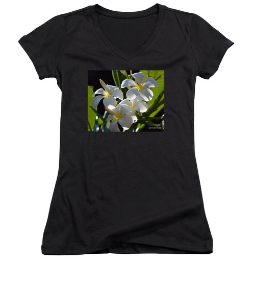 Women's V-Neck T-Shirt (Junior Cut) featuring the photograph Plumeria's IIi by Robert Meanor