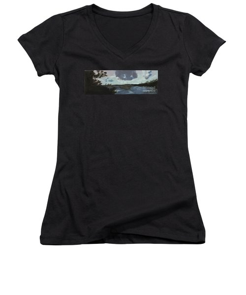 Pointe Aux Chein Blue Skies Women's V-Neck (Athletic Fit)