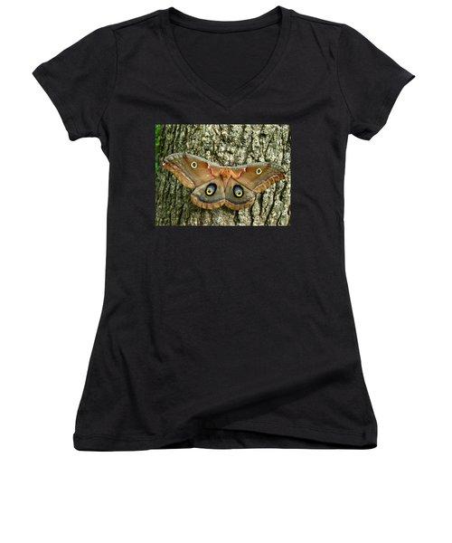 Polyphemus Moth Women's V-Neck T-Shirt