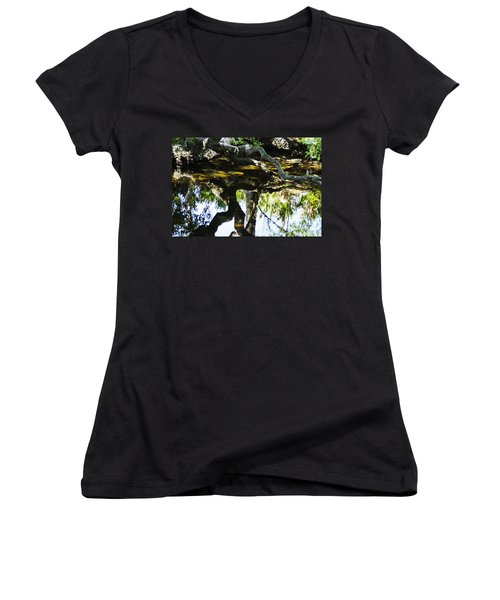 Pond Reflection Women's V-Neck