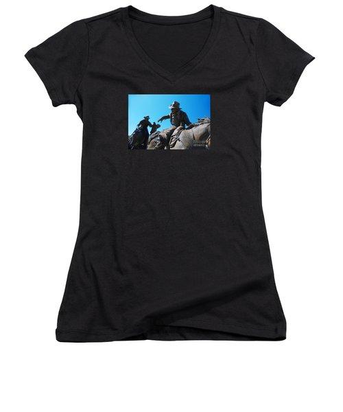 Pony Express Women's V-Neck T-Shirt