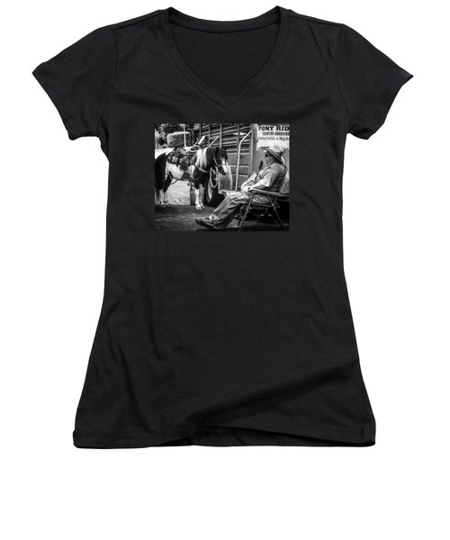 Pony Ride Women's V-Neck