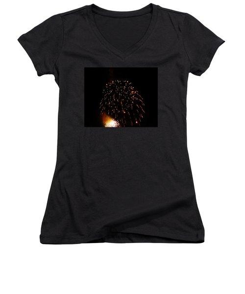 Women's V-Neck T-Shirt (Junior Cut) featuring the photograph POP by Amar Sheow