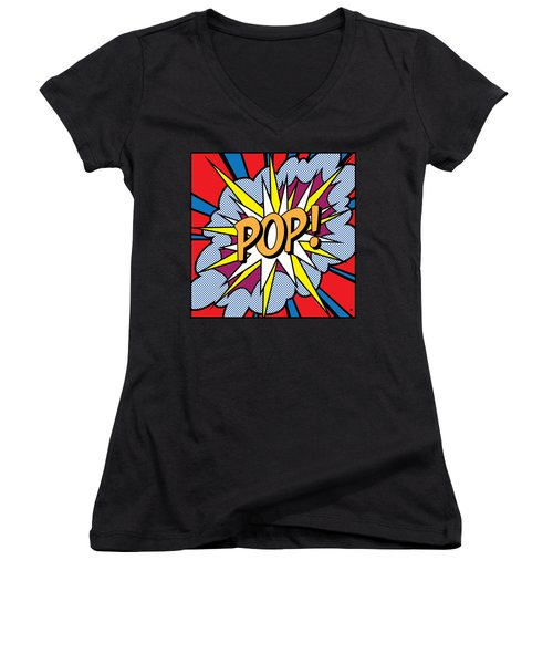 Pop Art Women's V-Neck (Athletic Fit)