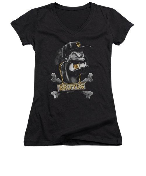 Popeye - Brutus Women's V-Neck T-Shirt (Junior Cut) by Brand A