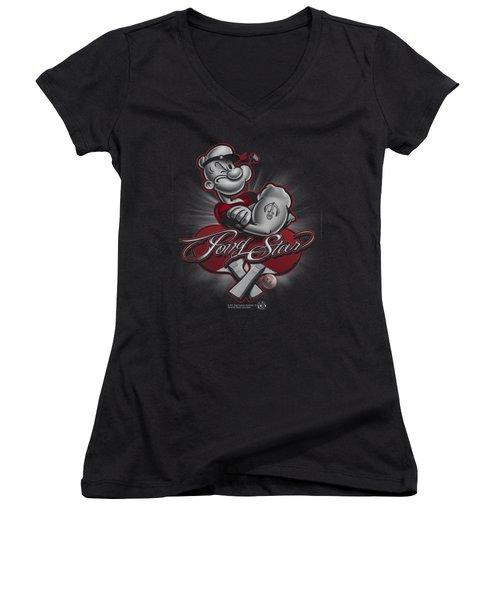Popeye - Pong Star Women's V-Neck T-Shirt