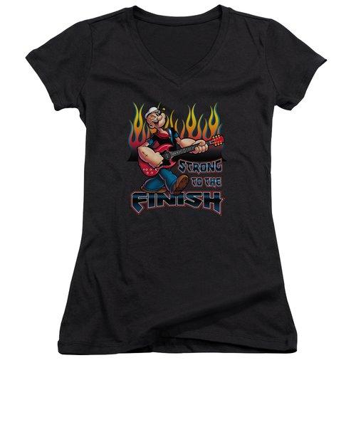 Popeye - Rocks Women's V-Neck T-Shirt