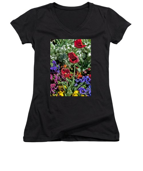 Women's V-Neck featuring the photograph Poppies by Mae Wertz