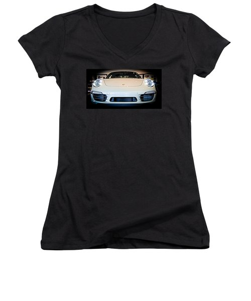 Porsche 911 50th Front With Led's Women's V-Neck