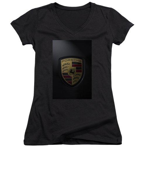 Porsche Logo Women's V-Neck T-Shirt