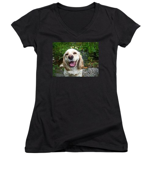 Women's V-Neck T-Shirt (Junior Cut) featuring the photograph Porshe' by Aimee L Maher Photography and Art Visit ALMGallerydotcom