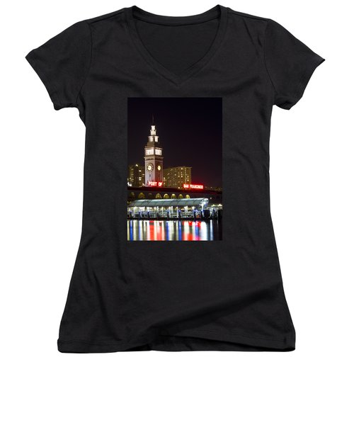 Port Of San Francisco Women's V-Neck