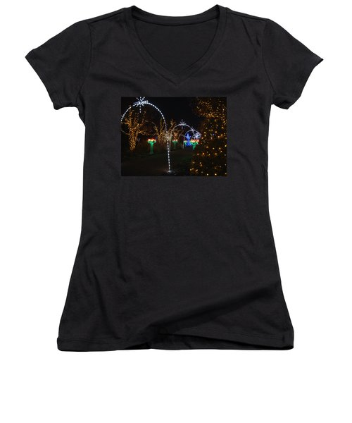 Portal Women's V-Neck T-Shirt (Junior Cut) by Rodney Lee Williams
