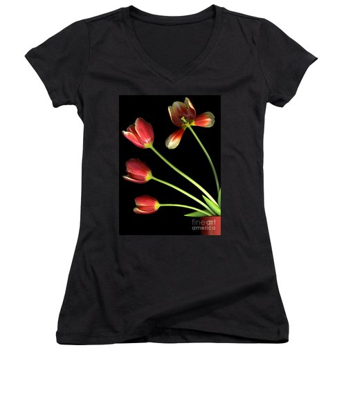 Pot Of Tulips Women's V-Neck (Athletic Fit)