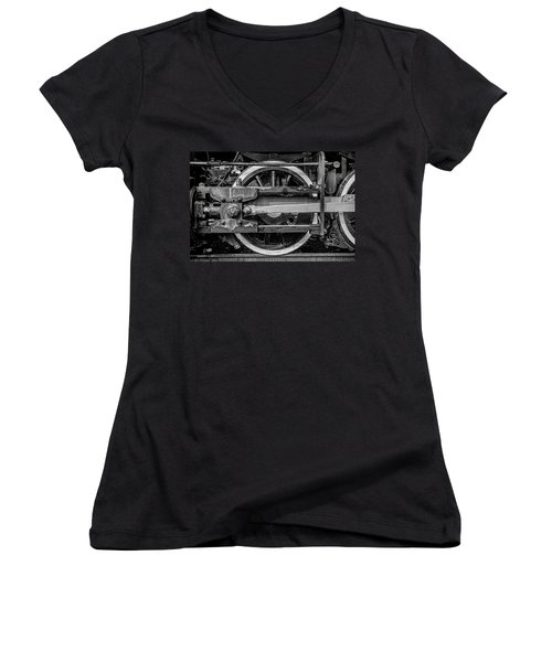 Women's V-Neck T-Shirt (Junior Cut) featuring the photograph Power Stroke by Ken Smith