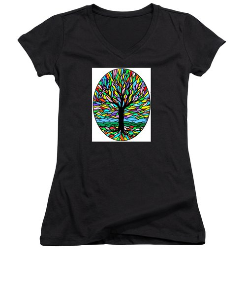 Prayer Tree Women's V-Neck (Athletic Fit)