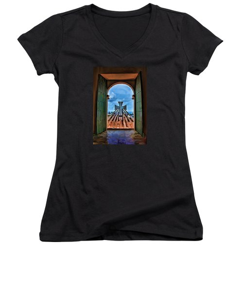 Prayers For Cartegena Women's V-Neck