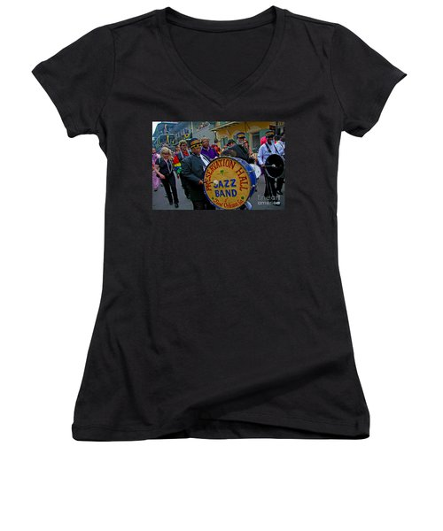 New Orleans Jazz Band  Women's V-Neck T-Shirt