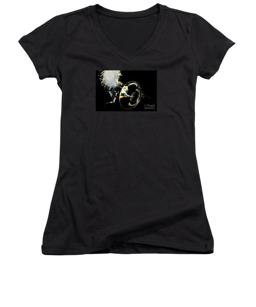 Pride Performance Women's V-Neck T-Shirt (Junior Cut) by Michelle Frizzell-Thompson
