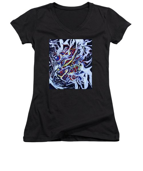 Primary Abstract Women's V-Neck (Athletic Fit)