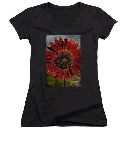 Primitive Sunflower 2 Women's V-Neck (Athletic Fit)