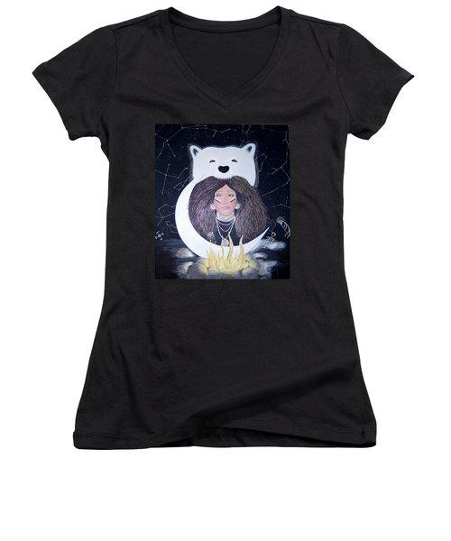Princess Moon Women's V-Neck