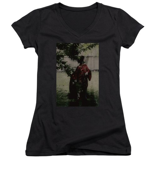 Women's V-Neck T-Shirt (Junior Cut) featuring the photograph Princess Of Tranquility  by Jessica Shelton