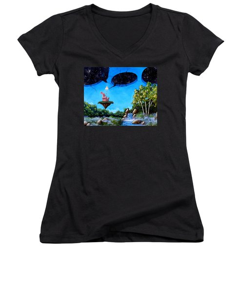 Private Space... Women's V-Neck T-Shirt