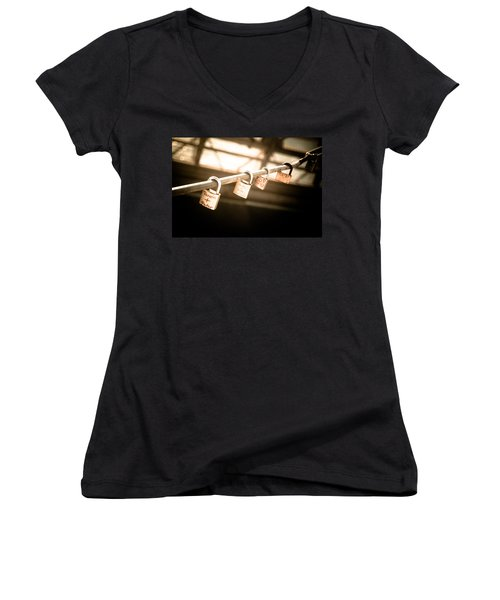 Women's V-Neck T-Shirt (Junior Cut) featuring the photograph Promises We Made by Peta Thames
