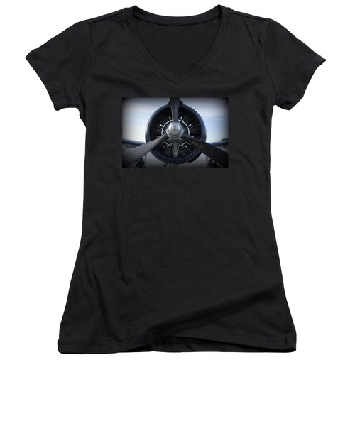 Women's V-Neck T-Shirt (Junior Cut) featuring the photograph Props by Laurie Perry