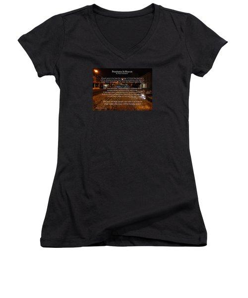 Prostitutes In Heaven Women's V-Neck T-Shirt