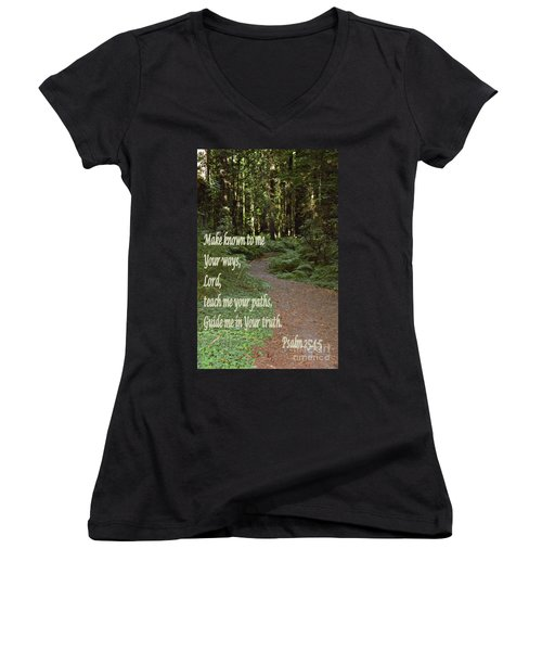 Psalm  - Paths Women's V-Neck T-Shirt