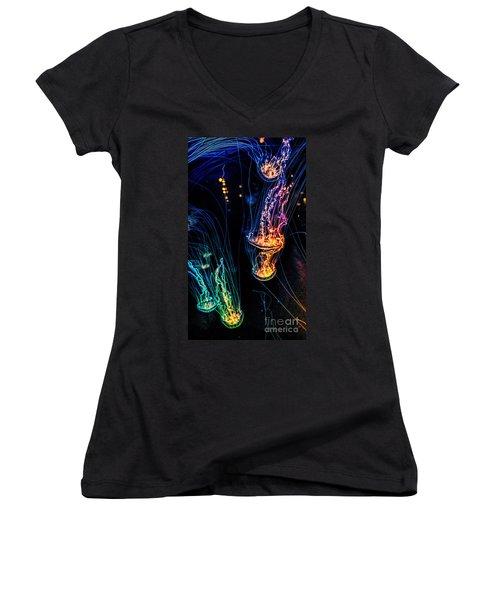 Psychedelic Cnidaria Women's V-Neck T-Shirt