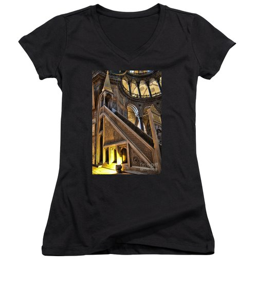 Pulpit In The Aya Sofia Museum In Istanbul  Women's V-Neck T-Shirt
