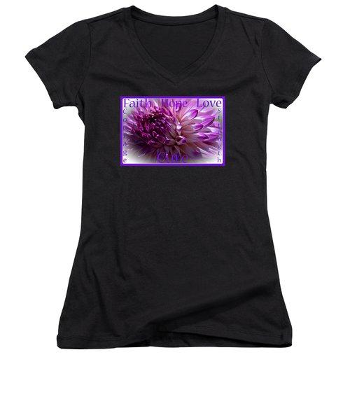 Purple Awareness Support Women's V-Neck