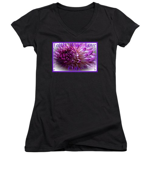 Purple Awareness Support Women's V-Neck (Athletic Fit)