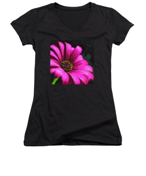 Purple Women's V-Neck (Athletic Fit)