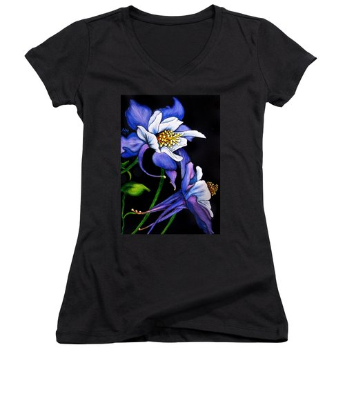 Purple Columbine Women's V-Neck