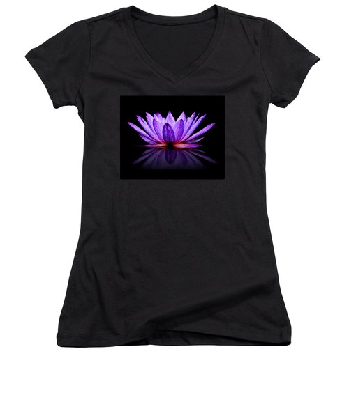 Purple Lily Women's V-Neck (Athletic Fit)