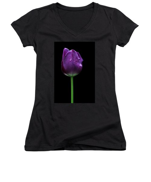 Purple Tulip Women's V-Neck (Athletic Fit)