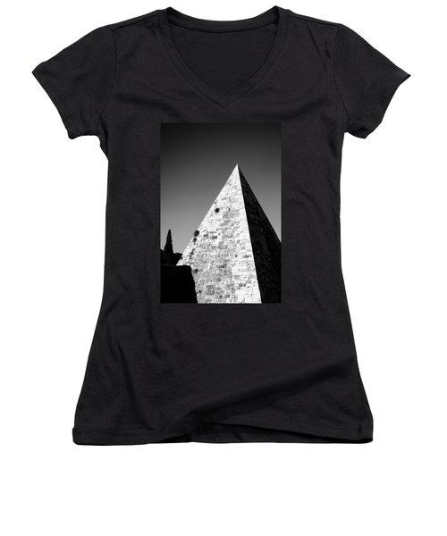 Pyramid Of Cestius Women's V-Neck