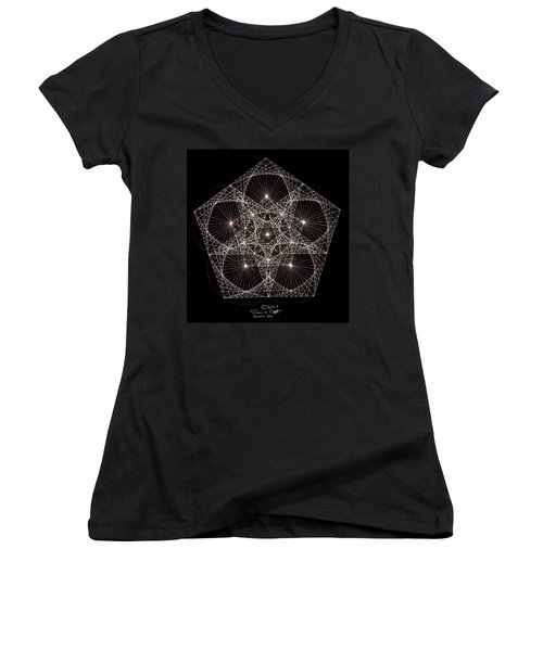 Quantum Star II Women's V-Neck T-Shirt (Junior Cut) by Jason Padgett