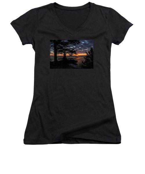 Quoddy Sunrise Women's V-Neck T-Shirt