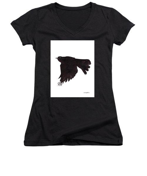 Quoth The Raven Women's V-Neck T-Shirt