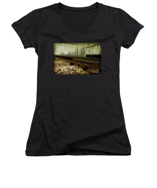 Railroad Bolts Women's V-Neck (Athletic Fit)