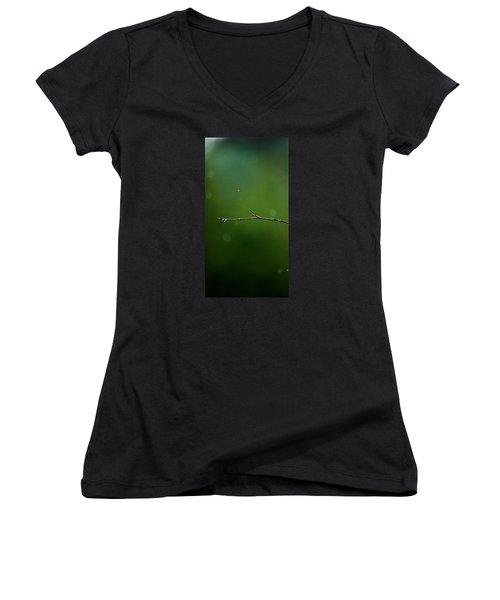 Rain Bokeh Women's V-Neck T-Shirt (Junior Cut) by Shelby  Young