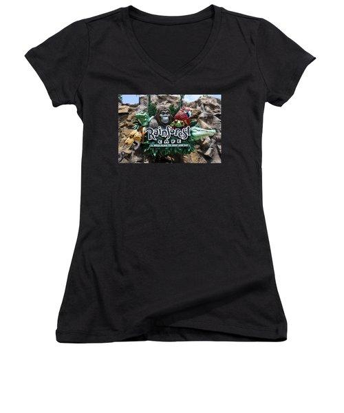 Rainforest Women's V-Neck (Athletic Fit)