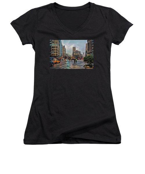 X-ing Broadway Women's V-Neck T-Shirt