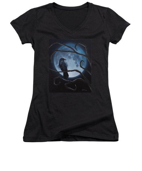 Raven Moon Women's V-Neck